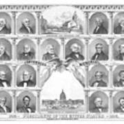 Presidents Of The United States 1776-1876 Print by War Is Hell Store