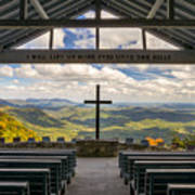 Pretty Place Chapel - Blue Ridge Mountains Sc Print by Dave Allen