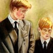 Prince William And Prince Harry Print by Carole Spandau