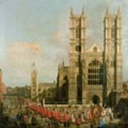 Procession Of The Knights Of The Bath Print by Canaletto