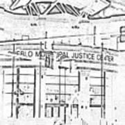 Pueblo Municipal Justice Center 2 Print by Lenore Senior