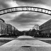 Purdue Entrance Sign Print by Coby Cooper