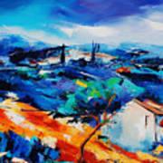 Purple Hills Print by Elise Palmigiani