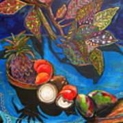 Purple Pineapple Print by Patti Schermerhorn