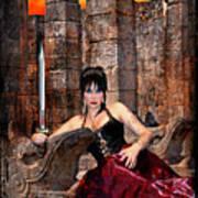 queen of Swords Print by Tammy Wetzel