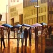 Rain In Manhattan Number Seventeen Print by Tate Hamilton