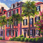 Rainbow Row Charleston Sc Print by Jeff Pittman