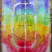 Rainbowbuddha Print by Joan Doyle