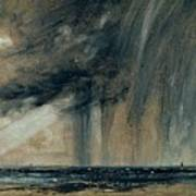 Rainstorm Over The Sea Print by John Constable