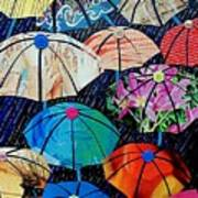 Rainy Day Personalities Print by Susan DeLain