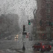 Rainy Days In Boston Print by Julie Lueders