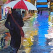 Rainy New York Print by Michael Lee