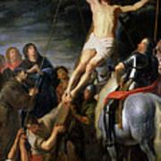 Raising The Cross Print by Gaspar de Crayer