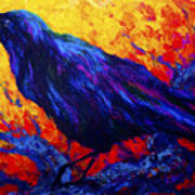 Raven's Echo Print by Marion Rose