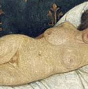 Reclining Female Nude Print by Paula Modersohn-Becker