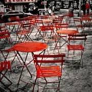 Red In My World - New York City Print by Angie Tirado