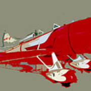 Red Racer Print by David Lee Thompson