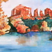 Red Rock Crossing Print by Sharon Mick