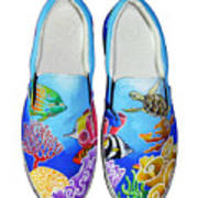 Reef Walkers Print by Adam Johnson