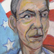 Reelecting Obama In 2012 Print by Derrick Hayes