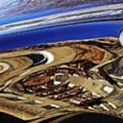 Reflection On A Parked Car 11 Print by Sarah Loft