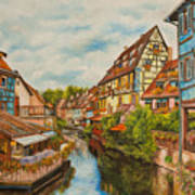 Reflections Of Colmar Print by Charlotte Blanchard