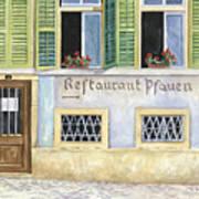 Restaurant Pfauen Print by Scott Nelson