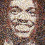 Rg3 Redskins History Mosaic Print by Paul Van Scott