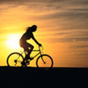 Riding At Sunset Print by Dave Fleetham - Printscapes