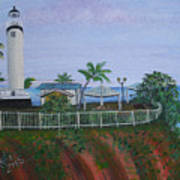Rincon's Lighthouse Print by Gloria E Barreto-Rodriguez