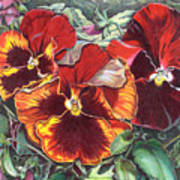 Ring Of Fire Print by Joyce Hutchinson