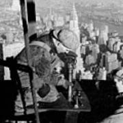 Riveters On The Empire State Building Print by LW Hine