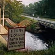 Roadside Fishing Spot Print by Doug Strickland