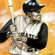Roberto Clemente Print by Dave Olsen
