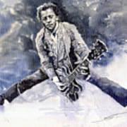 Rock And Roll Music Chuk Berry Print by Yuriy  Shevchuk