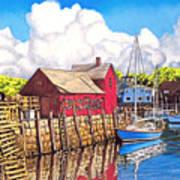 Rockport Cove Print by David Linton