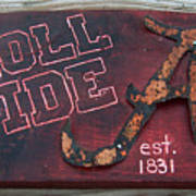 Roll Tide Alabama Print by Racquel Morgan