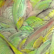Rolling Patterns In Greens Print by Wayne Potrafka