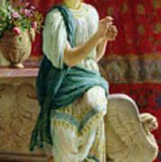 Roman Girl Print by Guglielmo Zocchi