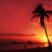 Romantic Sunset Print by Melanie Viola