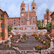 Rome-piazza Di Spagna Print by Guido Borelli