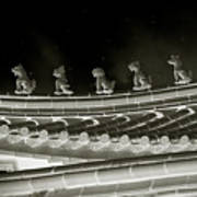 Roof National Palace Museum Taiwan City - Taipei  Print by Christine Till
