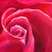 Rosey Lover Print by Angela Treat Lyon