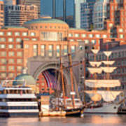 Rowes Wharf Print by Susan Cole Kelly
