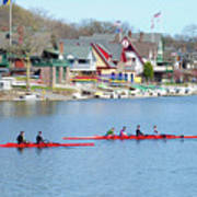 Rowing Along The Schuylkill River Print by Bill Cannon