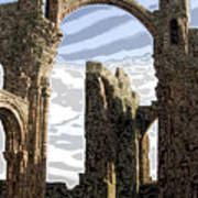 Ruins On The Holy Island Print by Carl Purcell