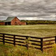 Rural Tennessee Red Barn Print by Cheryl Davis