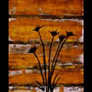 Rustic Log Cabin Print by Marsha Heiken