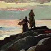 Saco Bay Print by Winslow Homer