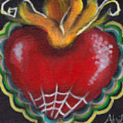 Sagrado Corazon 2 Print by  Abril Andrade Griffith